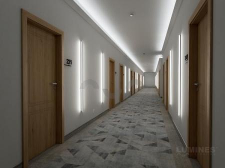 Oświetlenie korytarza w biurze