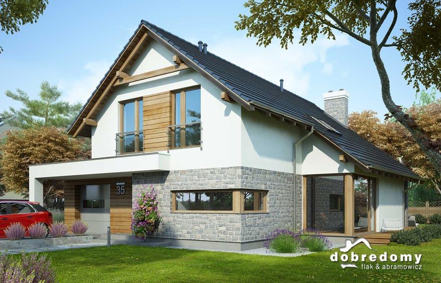 Dodatkowe 5 pomysłów na ciekawe i nowoczesne elewacje domów jednorodzinnych ZP06